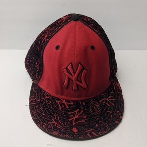 New York Yankees red black baseball cap